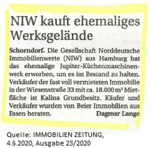 Pressemitteilung Immobilien Zeitung Beier